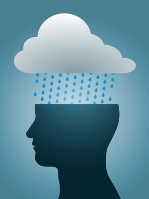 stockfresh 1135658 depressed head silhouette with dark rain cloud sizeXS What is your Vibration? Control Your Thoughts, Control Your Life
