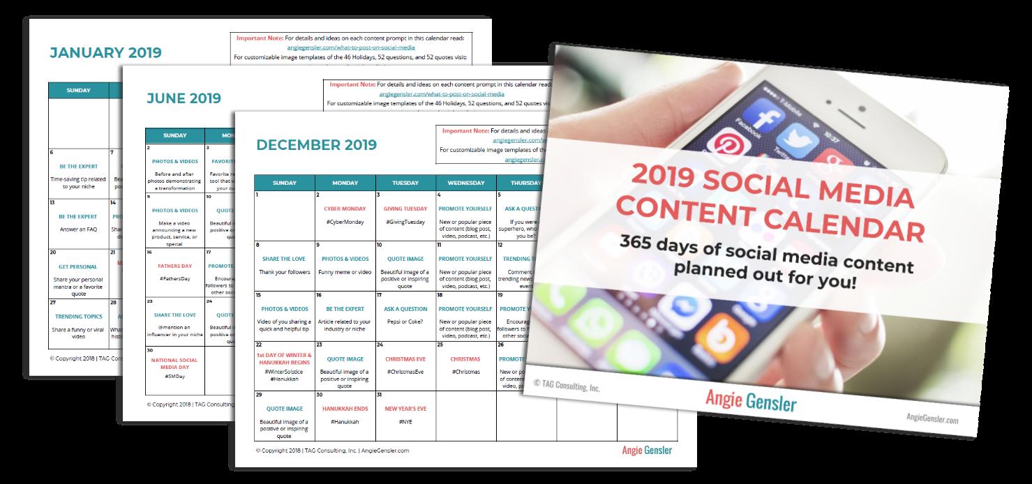 YES! A 2019 Social Media Content Calendar